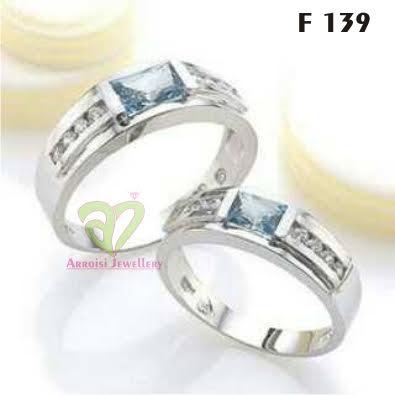 Cincin Kawin Perak Rhodium F 139