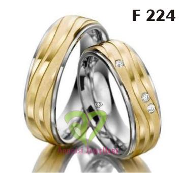 Cincin Kawin Perak Rhodium F 224
